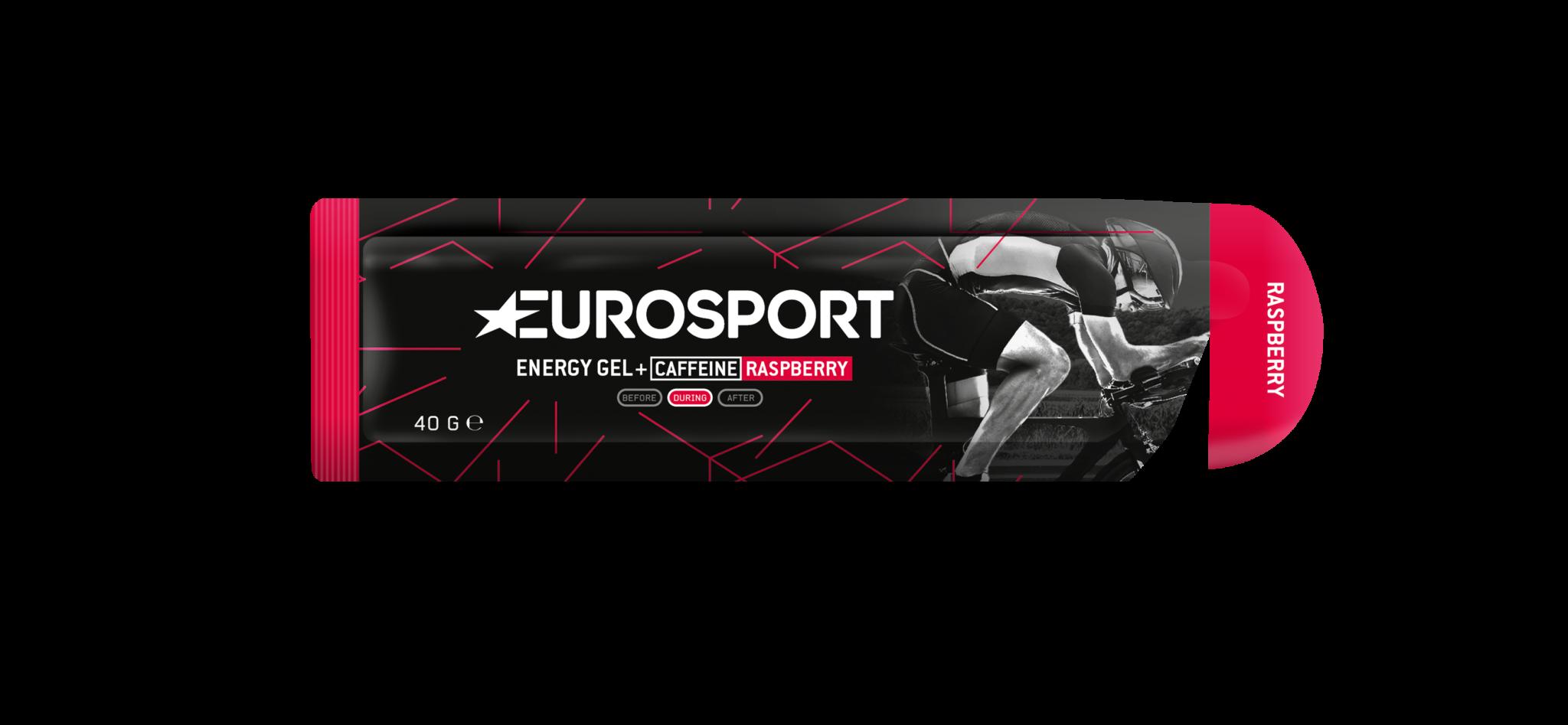 Eurosport - Energy Gel + Caffeine_Raspberry_3D